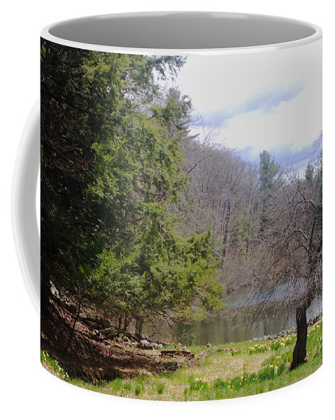 Tree Coffee Mug featuring the photograph Crooked Tree by Ray Konopaske