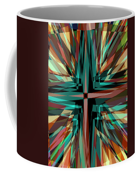 Background Coffee Mug featuring the digital art Cross Burst 2 by Steve Ball