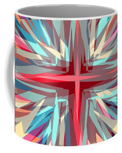 Background Coffee Mug featuring the digital art Cross Burst by Steve Ball