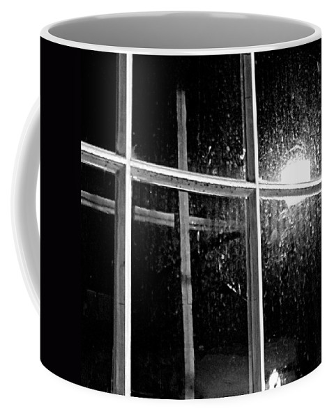 Religion Coffee Mug featuring the photograph Cross In Window by Jean Macaluso