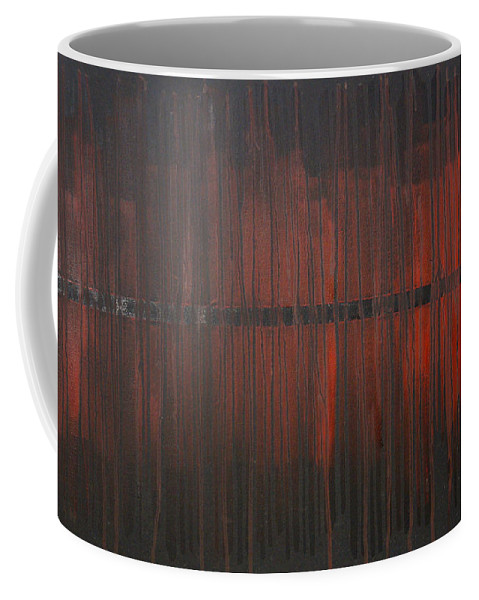 Fantasy Coffee Mug featuring the painting Cross the Line by Sergey Bezhinets
