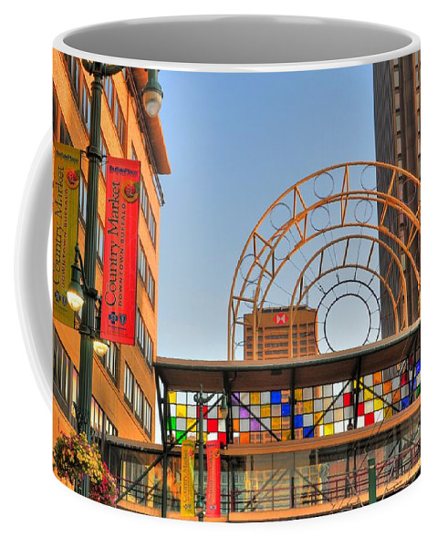 Cross Coffee Mug featuring the photograph Cross Walk by Kathleen Struckle
