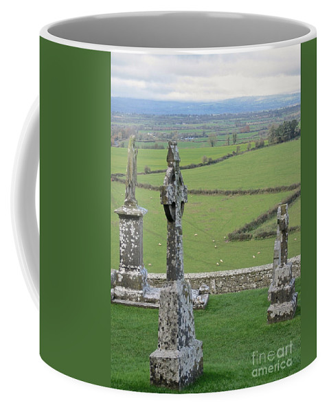Cashel Ireland Celtic Cross Coffee Mug featuring the photograph Crosses Of Cashel by Suzanne Oesterling