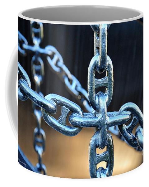 Chain Coffee Mug featuring the photograph Crossing Chains by Randi Grace Nilsberg