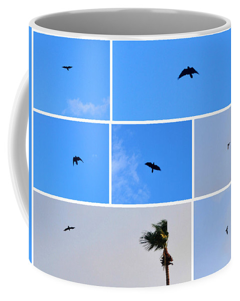 Animal Coffee Mug featuring the photograph Crow In Flight by Jay Milo