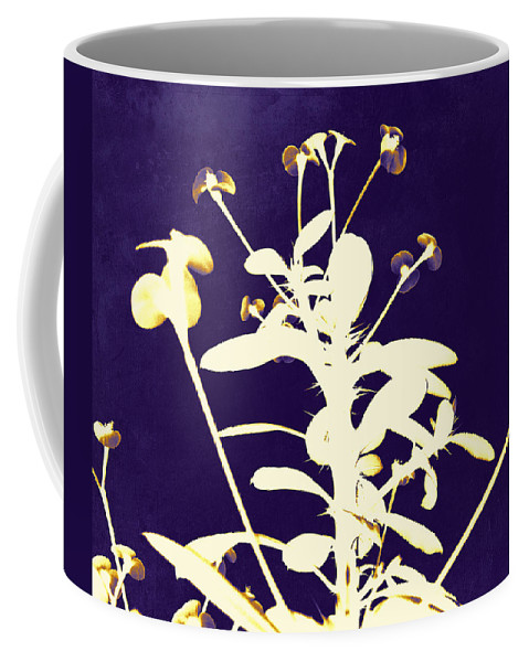 Crown Of Thorns Coffee Mug featuring the photograph Crown Of Thorns - Indigo by Shawna Rowe