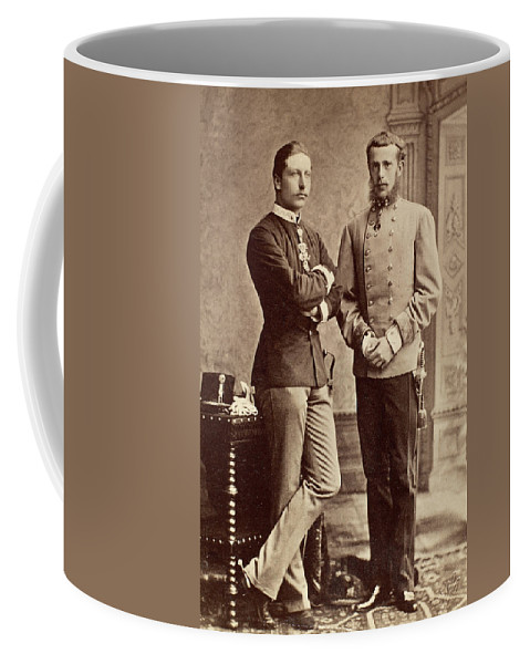 1883 Coffee Mug featuring the photograph Crown Princes, 1883 by Granger