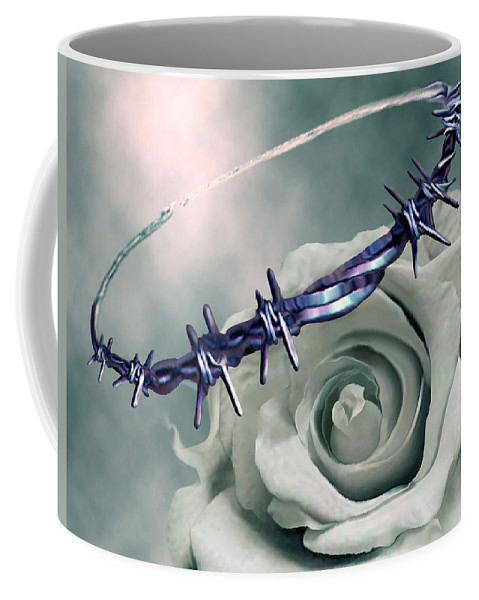 Crowned Coffee Mug featuring the digital art Crowned by Jennifer Kathleen Phillips