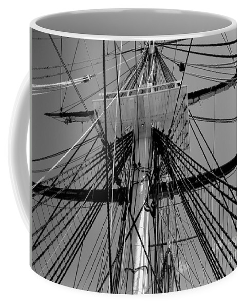 Boston Coffee Mug featuring the photograph Crows Nest by Kenny Glotfelty