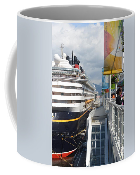 Cruise Coffee Mug featuring the photograph Cruise Dockside In Vancouver by Nicki Bennett