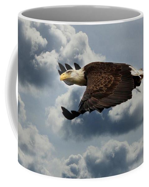 Bald Eagle Coffee Mug featuring the photograph Cruisin' Altitude by Lori Deiter