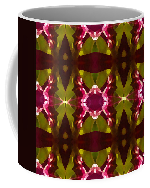 Abstract Coffee Mug featuring the painting Crystal Butterfly Pattern by Amy Vangsgard