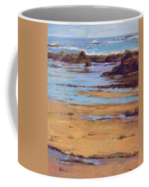 Crystal Coffee Mug featuring the painting Crystal Cove by Konnie Kim