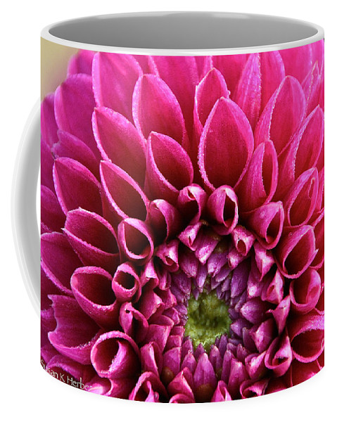 Flower Coffee Mug featuring the photograph Crystal Edges by Susan Herber