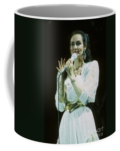 Vocalist Coffee Mug featuring the photograph Crystal Gayle by Concert Photos