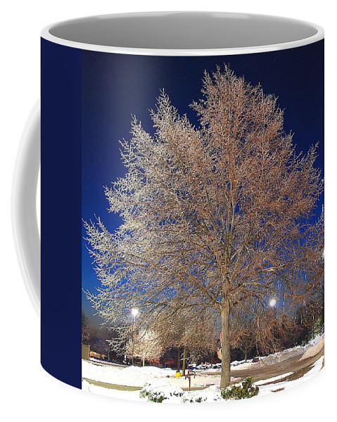 Crystal Coffee Mug featuring the photograph Crystal Tree by Frozen in Time Fine Art Photography