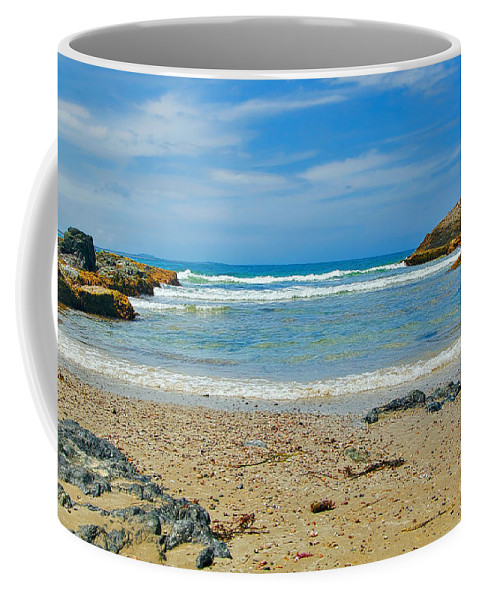 Photography Coffee Mug featuring the photograph Crystal Waters - Port Macquarie Beach by Kaye Menner