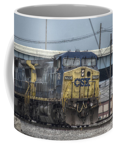 Columbus Coffee Mug featuring the photograph Csx 7745 Engine 01 by J M Lister