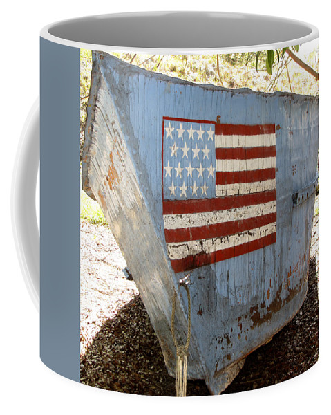 Refugee Coffee Mug featuring the photograph Cuban Refugee Boat 4 by Bob Slitzan