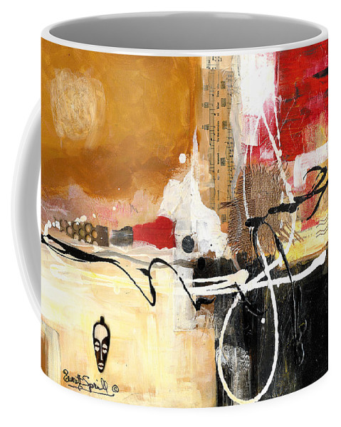 Everett Spruill Coffee Mug featuring the painting Cultural Abstractions - Hattie McDaniels by Everett Spruill