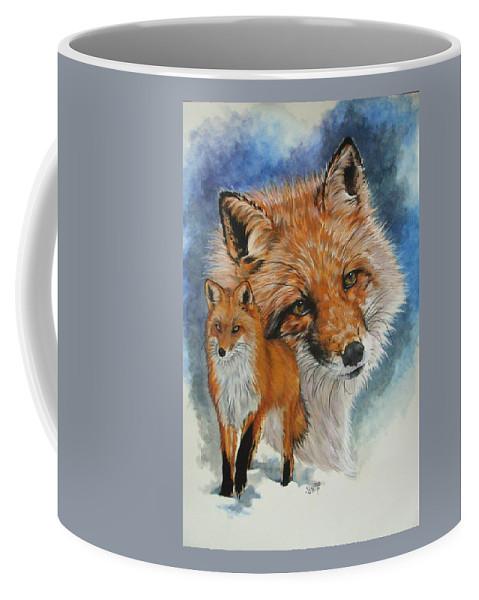 Fox Coffee Mug featuring the mixed media Cunning by Barbara Keith