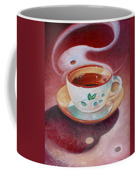 Cup Of Tea Coffee Mug featuring the painting Cup Of Tea by T S Carson