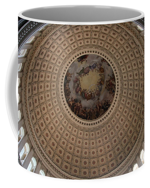Cupola Coffee Mug featuring the photograph Cupola Capitol Washington Dc by Christiane Schulze Art And Photography