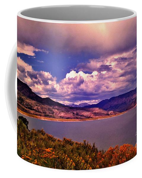 Crazy Woman Art Coffee Mug featuring the photograph Curecanti Autumn Blue Mesa Colorado by Janice Pariza