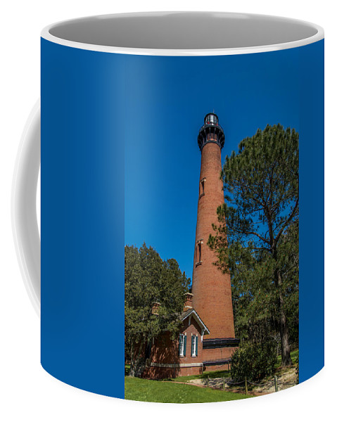 Currituck Coffee Mug featuring the photograph Currituck Lighthouse by Stacy Abbott