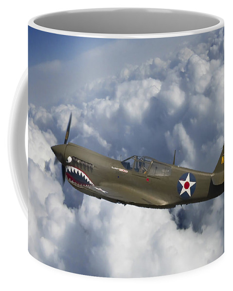 3scape Photos Coffee Mug featuring the photograph Curtiss P-40 Warhawk Flying Tigers by Adam Romanowicz