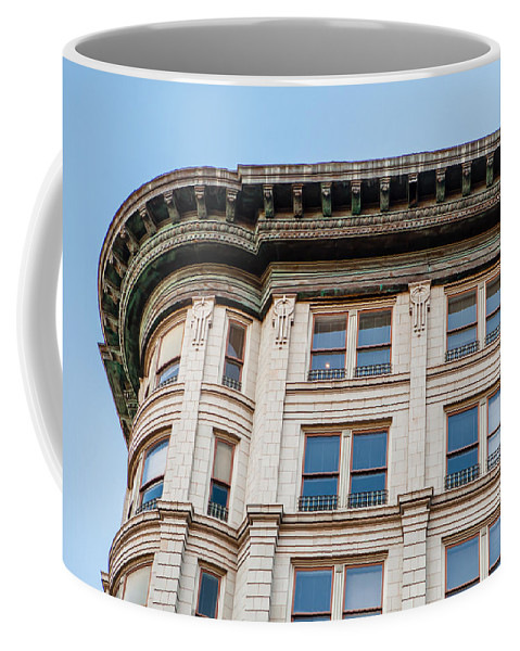 Architecture Coffee Mug featuring the photograph Curved Corner by Melinda Ledsome