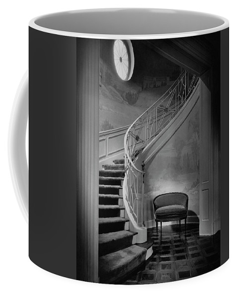 Interior Coffee Mug featuring the photograph Curving Staircase In The Home Of W. E. Sheppard by Maynard Parker