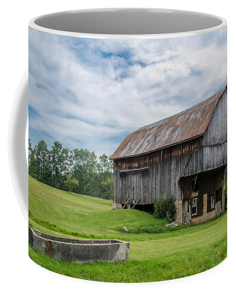 Barn Coffee Mug featuring the photograph Cut Out Barn by Guy Whiteley