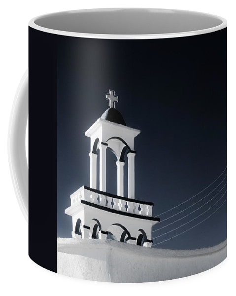 Cyclades Coffee Mug featuring the photograph Cyclades Greece - Andros Island Church by Alexander Voss