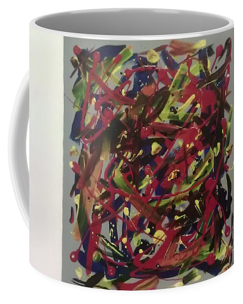 Abstract Coffee Mug featuring the painting Cycle Of Life by Briana Nickas