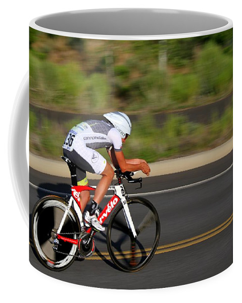 Cycling Coffee Mug featuring the photograph Cycling Time Trial by Kevin Desrosiers