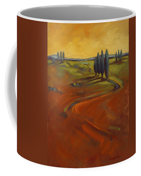 Cypress Coffee Mug featuring the painting Cypress Hills 3 by Konnie Kim
