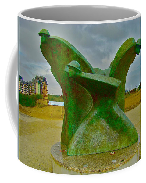 History Coffee Mug featuring the photograph D-day Memorial For Juno Beach Heros by Tim G Ross