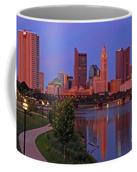 Columbus Coffee Mug featuring the photograph D2l38 Columbus Ohio Skyline Photo by Ohio Stock Photography