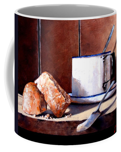Still Life Coffee Mug featuring the painting Daily Bread Ver 2 by Jim Gola