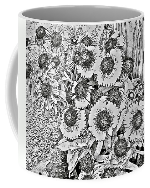 Daisies Coffee Mug featuring the photograph Daisies In Relief by Alice Gipson