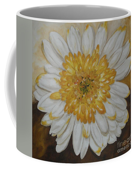 Daisy Coffee Mug featuring the painting Daisy-2 by Graciela Castro