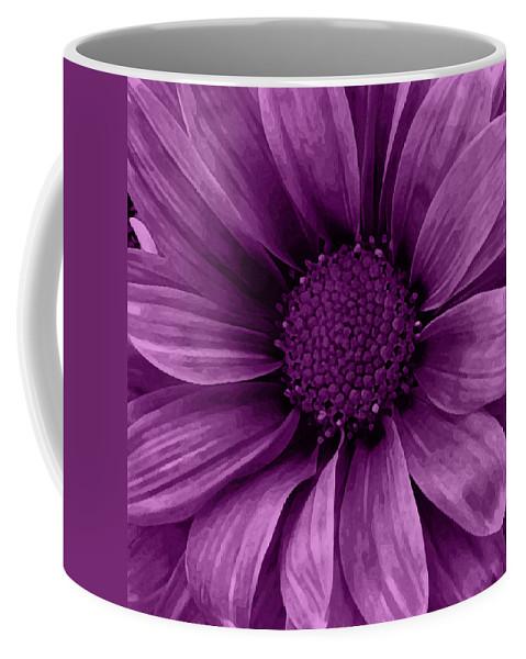 Daisy Coffee Mug featuring the mixed media Daisy Daisy Grape by Angelina Vick