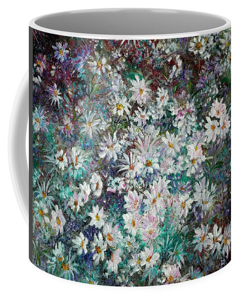 Has A White Frame Coffee Mug featuring the painting Daisy Dreamz Remix by Karin Dawn Kelshall- Best