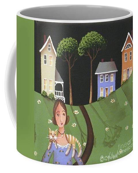 Art Coffee Mug featuring the painting Daisy Mae And Betty Lou by Catherine Holman