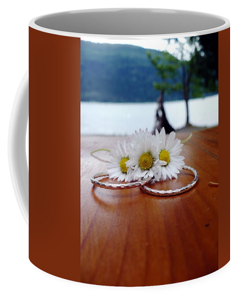 Unity Coffee Mug featuring the photograph Daisy Unity Rings by Nicki Bennett