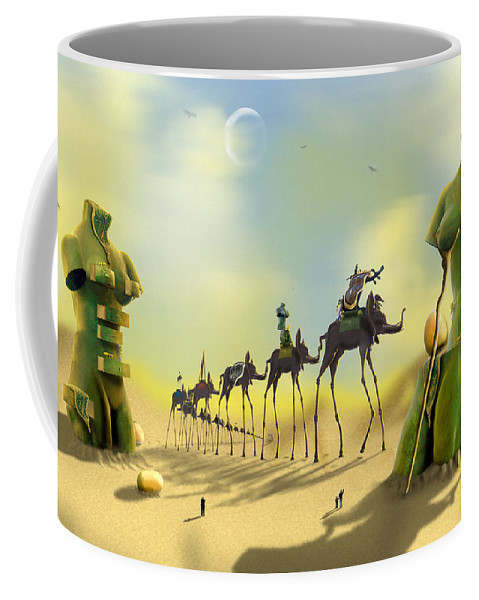 Surrealism Coffee Mug featuring the photograph Dali On The Move by Mike McGlothlen