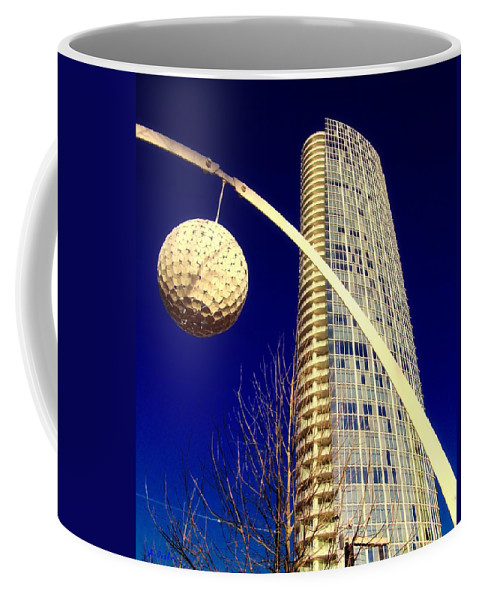 Dallas Coffee Mug featuring the digital art Dallas Museum Tower by Alec Drake