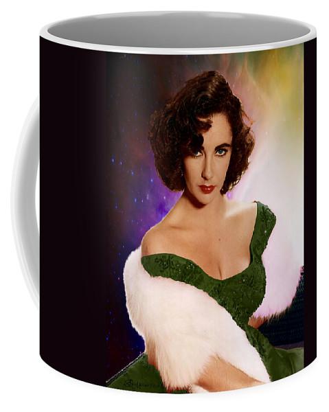 Elizabeth Coffee Mug featuring the photograph Dame Elizabeth Rosemond 'liz' Taylor - Featured In 'comfortable Art' Group by Ericamaxine Price