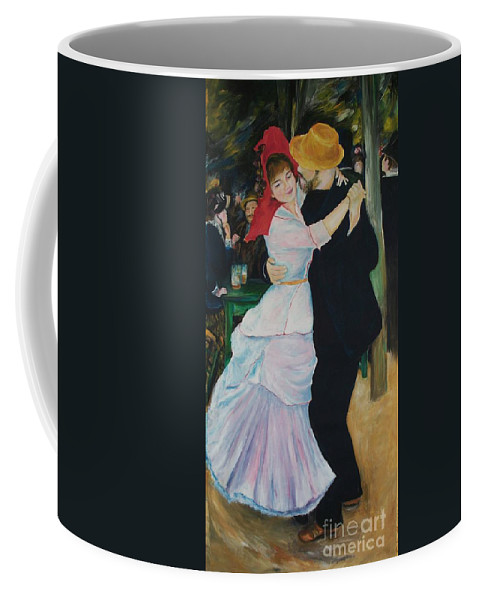 Impressionism Coffee Mug featuring the painting Dance At Bougival Renoir by Eric Schiabor